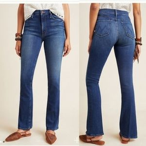 Mother the runaway jeans flowers from the storm bootcut style medium wash - 26